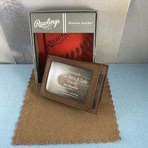 Rawlings Bags - Rawlings Mens Legacy Front Pocket Brown Wallet